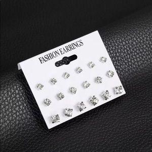 Silver Stud Cubic Zirconia Stud Earrings